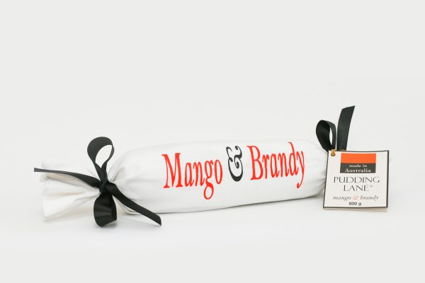 mango brandy 500g log pudding